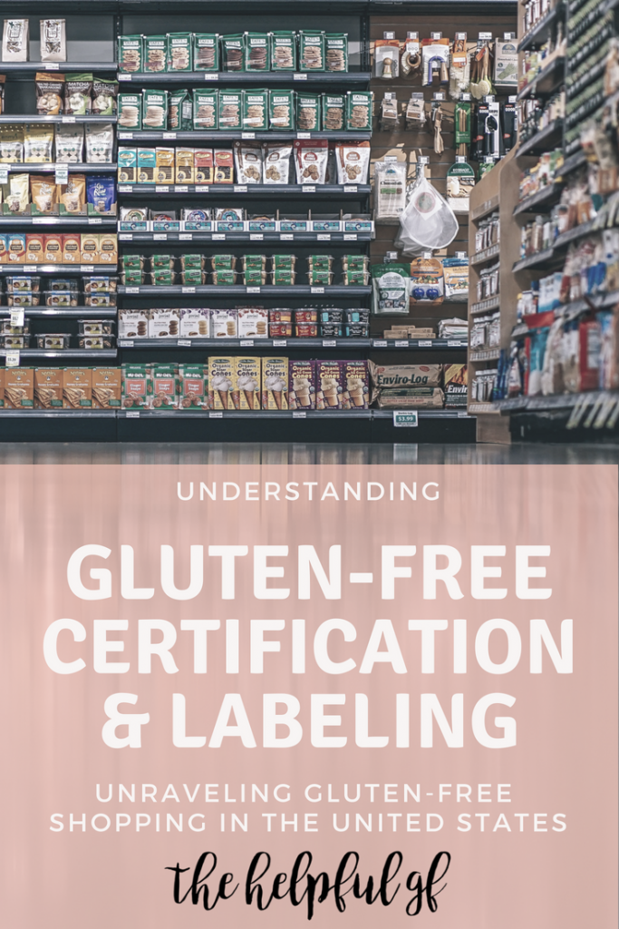 gluten free certification and labeling pin