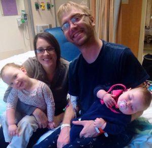 mccaskill family at hospital