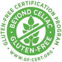 certified gluten free logo by beyond celiac gluten free certification program