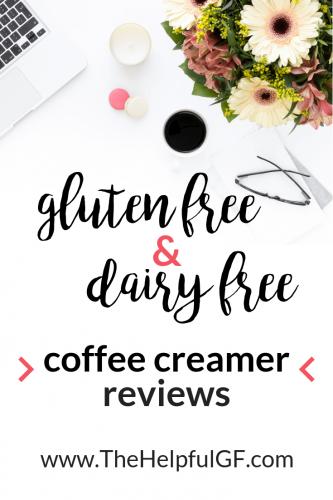 gluten free dairy free coffee creamer pin 1