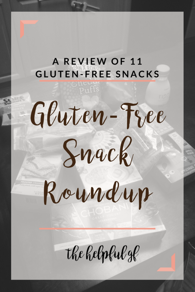 A Roundup of Gluten Free Snacks and Reviews