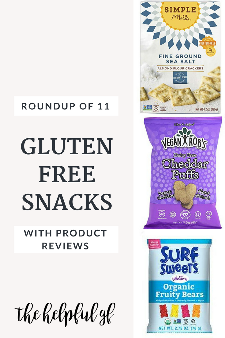 A Roundup of 11 gluten-free snacks with reviews