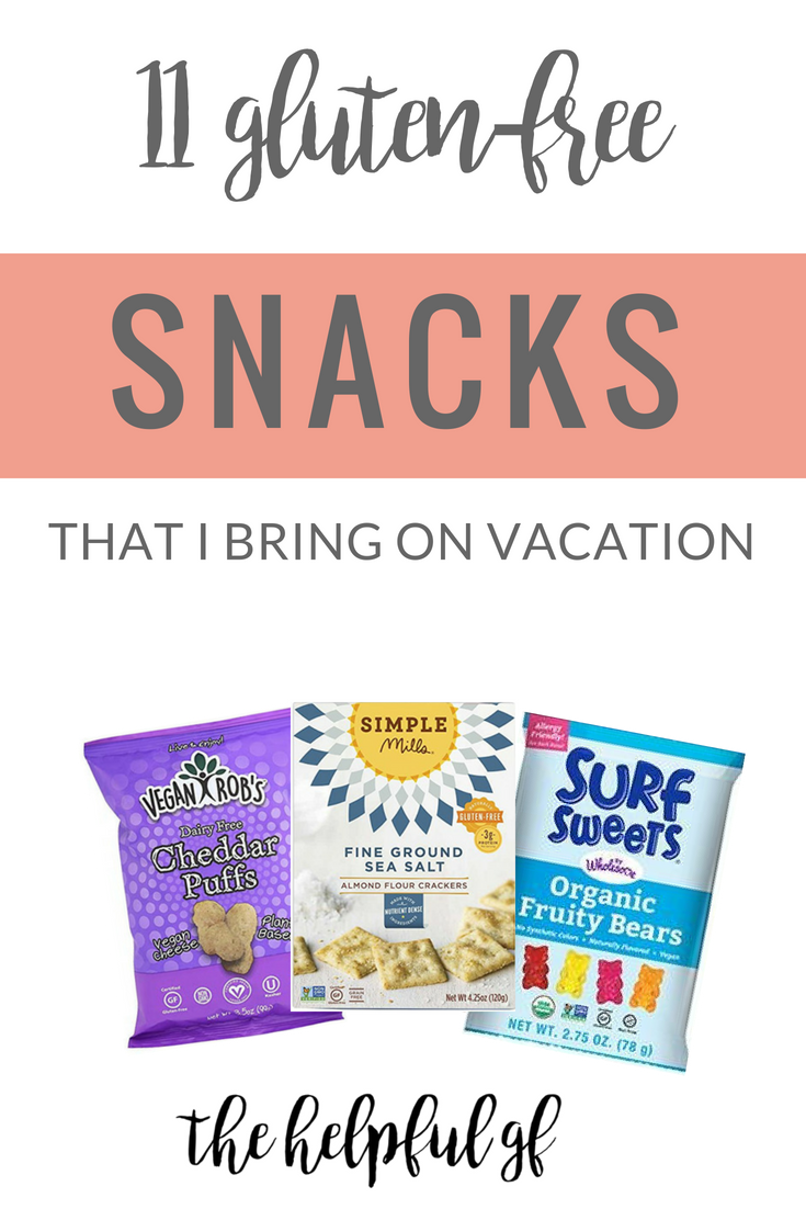 gluten-free snacks I bring on vacation
