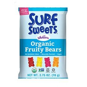surf sweet by wholesome organic fruity gummy bears gluten-free