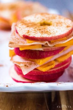 Turkey Cheese apple Sandwiches