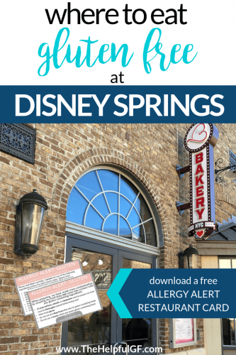 Where to eat gluten free at Disney Springs