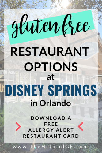 gluten free restaurant options in disney springs orlando