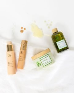 Arbonne's body wash, facial cleanser, and moisturizing oil