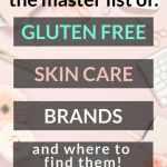 skincare pin image with text master list of gluten free skin care brands