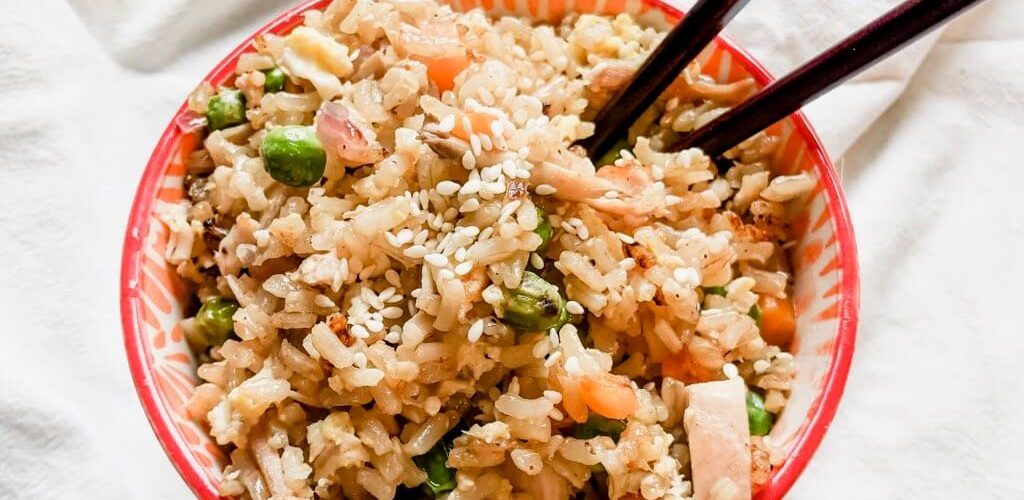 gluten-free chicken fried rice image 2