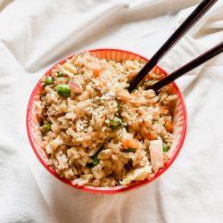 gluten-free chicken fried rice image 2