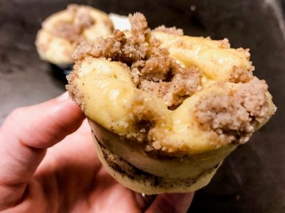 cinnamon crumble muffin picture