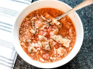 gluten free slow cooker cabbage soup