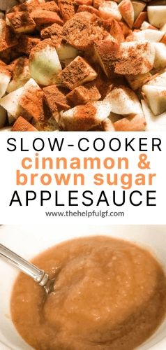 brown sugar cinnamon applesauce in the slow cooker