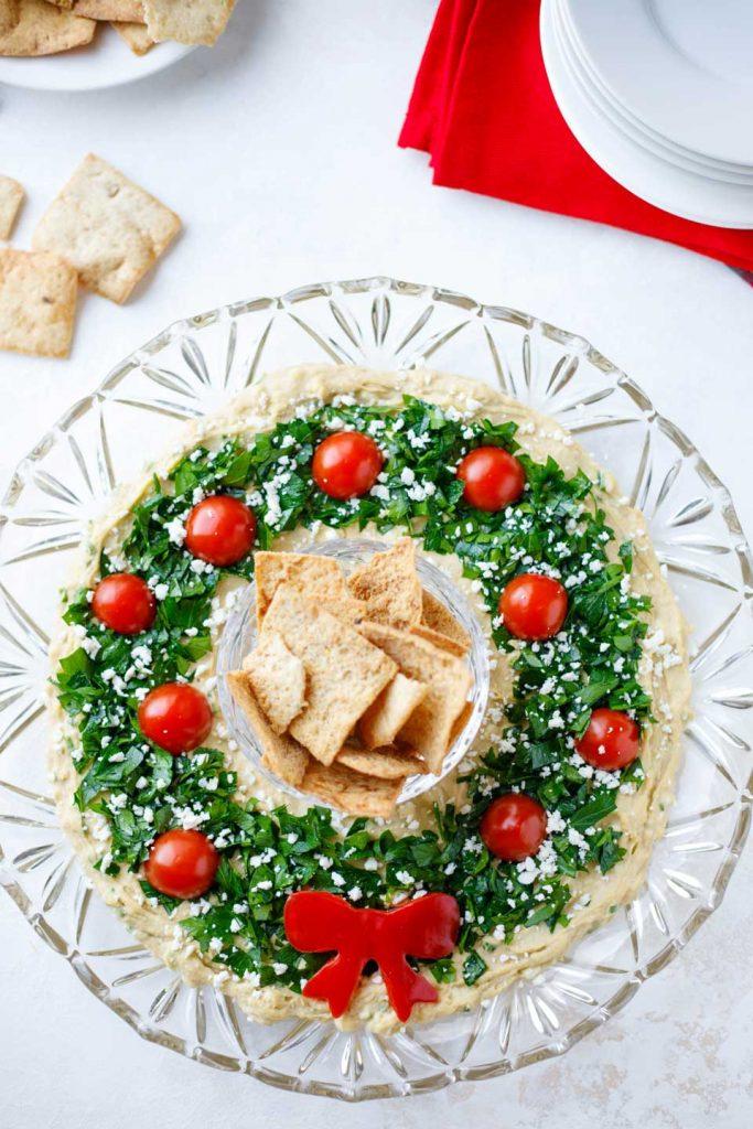gluten free hummus wreath