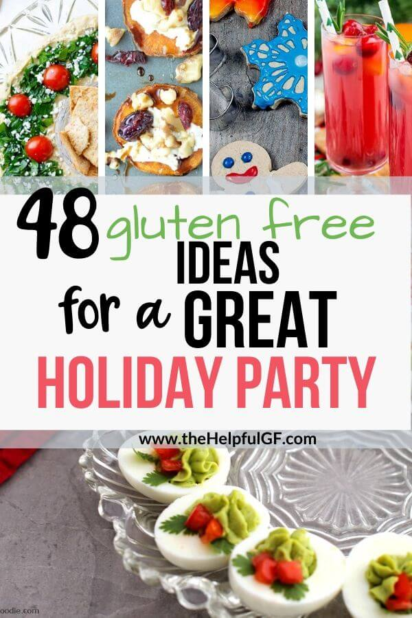 gluten free ideas for a great holiday party pin 1