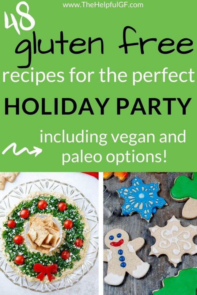 gluten free recipes for the perfect holiday party pin 2 with vegan and paleo options