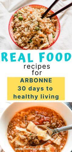 healthy living real food pin