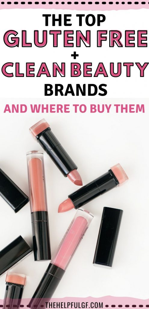 pin top gluten free makeup and clean beauty brands and where to buy them with lipstick