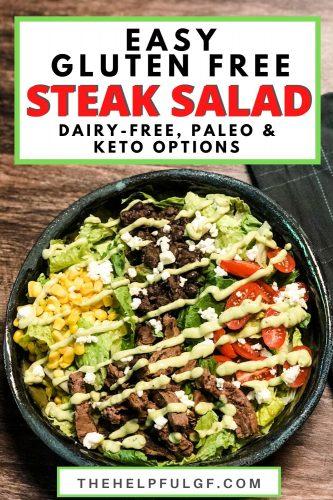 Easy Gluten Free Steak Salad