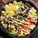 Steak Salad Assembled wide crop