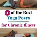 yoga poses for chronic illness pin
