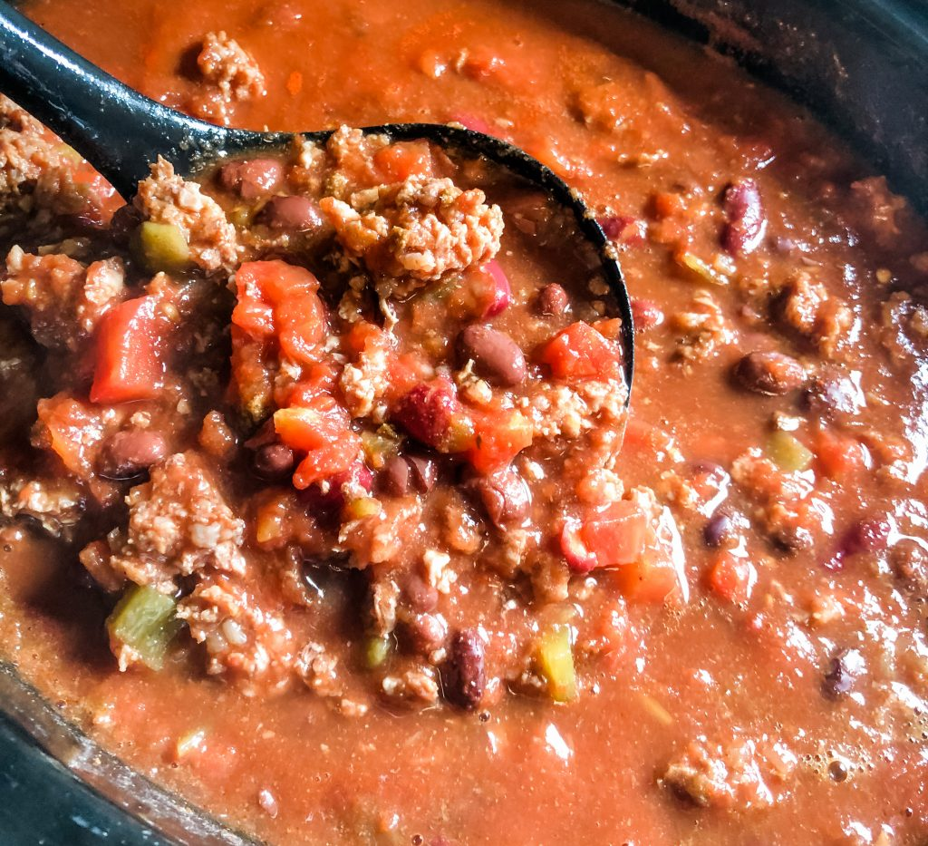 chili in  crockpot