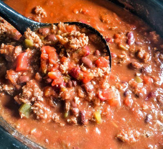 chili in crockpot
