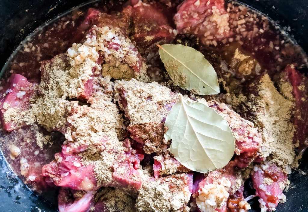 barbacoa ingredients in slow cooker