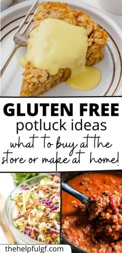 gluten free potluck ideas recipes and store bought