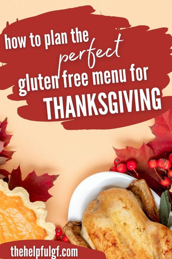 perfect gluten free menu thanksgiving