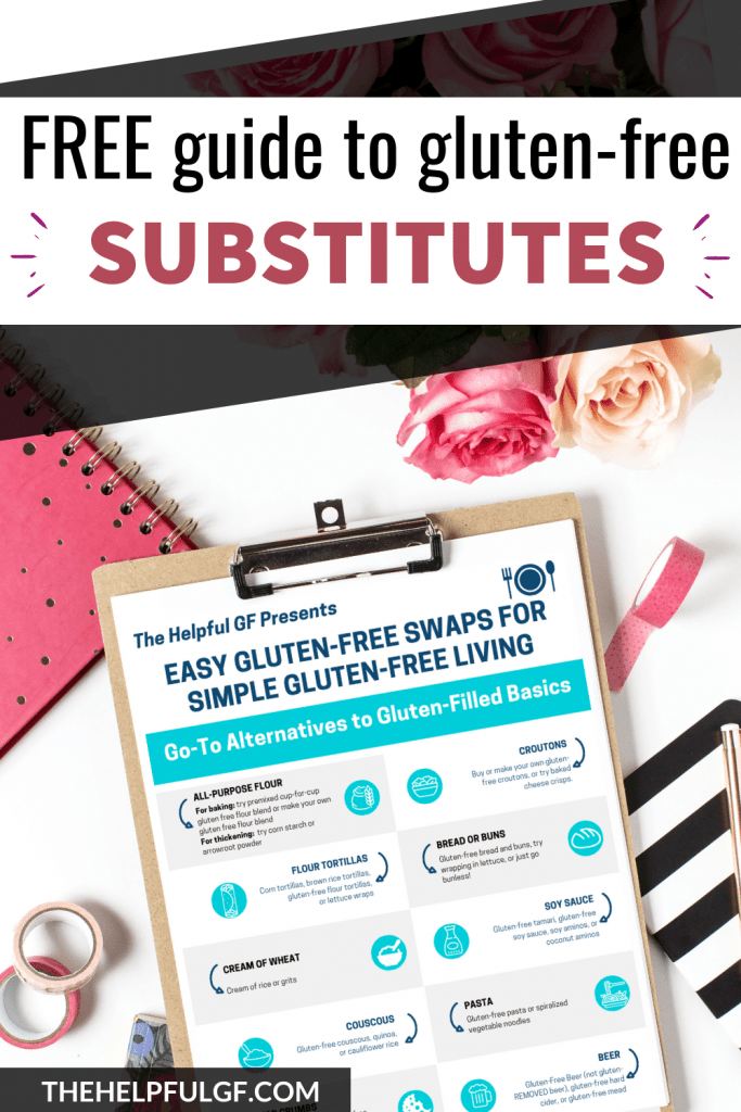 guide to gluten free substitutes image of free printable