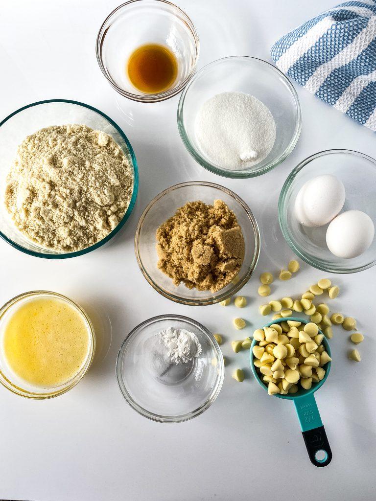 ingredients for healthy blondie brownies