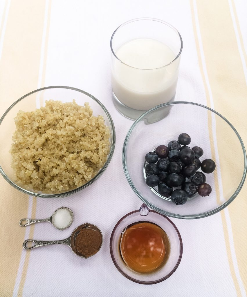 Ingredients for Blueberry Breakfast Quinoa