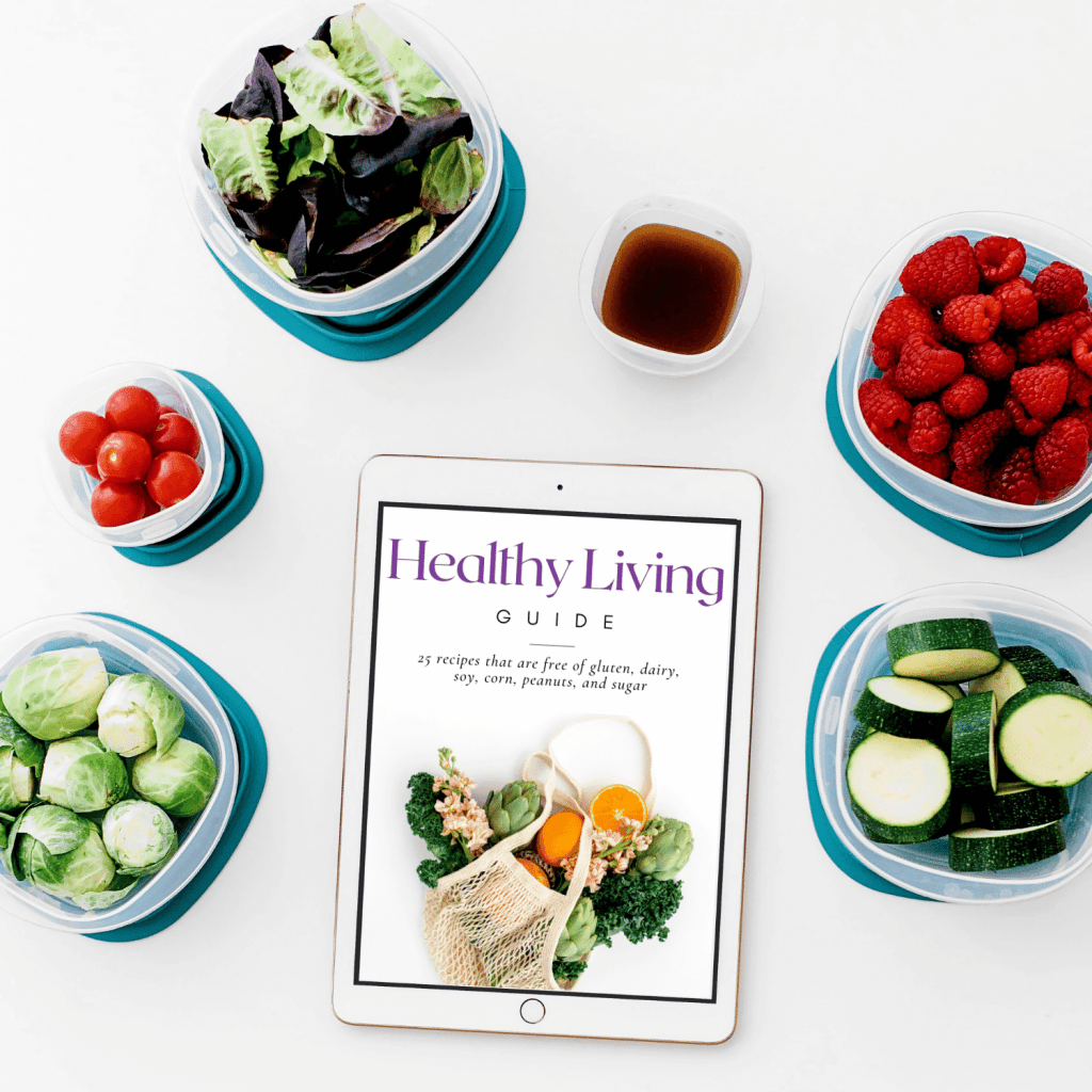 healthy living guide mockup