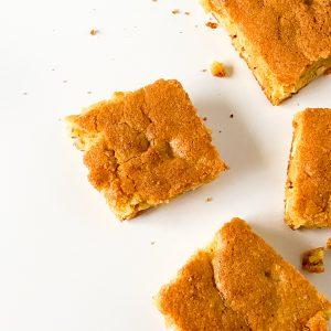 heatlhy blonde brownies squares