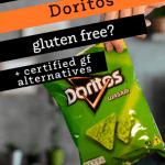 bag of wasabi doritos with text are doritos gluten free