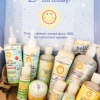 box of california baby skin care products